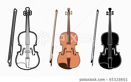 Violin instrument cartoon music graphic vector 65328601