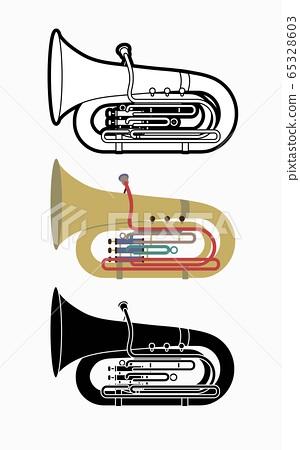 Tuba instrument cartoon music graphic vector 65328603
