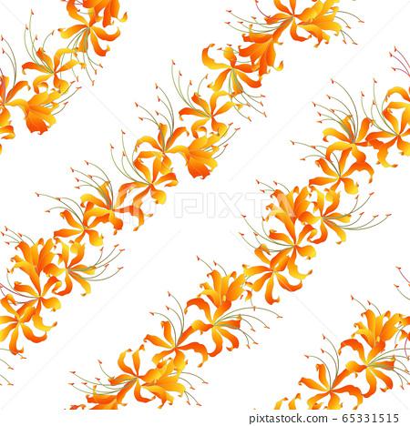 日本簇孤挺花條紋圖案, 65331515