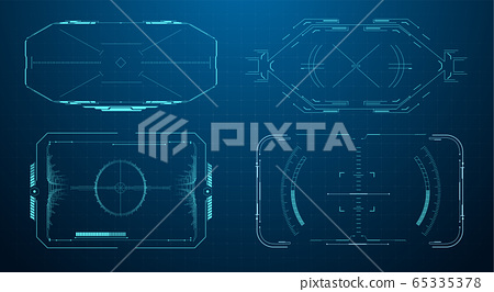 hud futuristic frame game target borders stock illustration 65335378 pixta hud futuristic frame game target