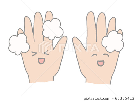 Hand wash smile 65335412