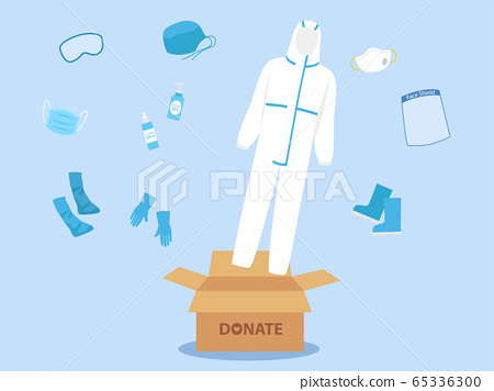 People donate PPE personal protective suit 65336300