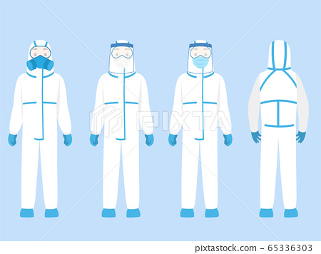 Set of people Character wearing in PPE personal 65336303