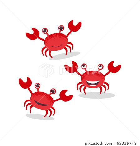 Set of cute crab character  65339748