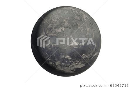 Mercury planet isolated on white 65343715