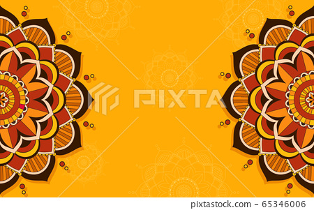 Background template with mandala pattern design 65346006