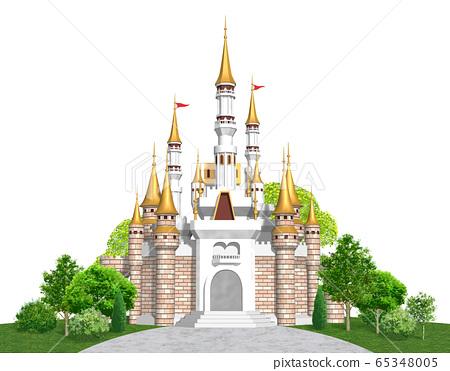 유럽의 성 정면 - 캐슬의 일러스트 65348005