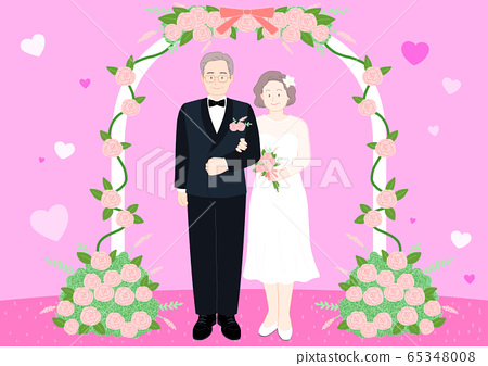 Love and romance concept, Couple in love illustration 010 65348008