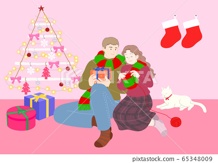 Love and romance concept, Couple in love illustration 008 65348009