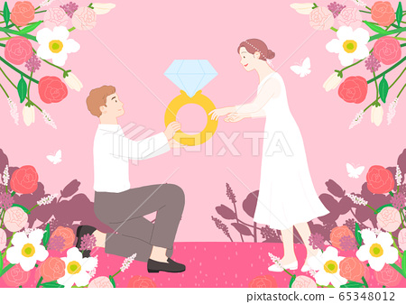 Love and romance concept, Couple in love illustration 006 65348012