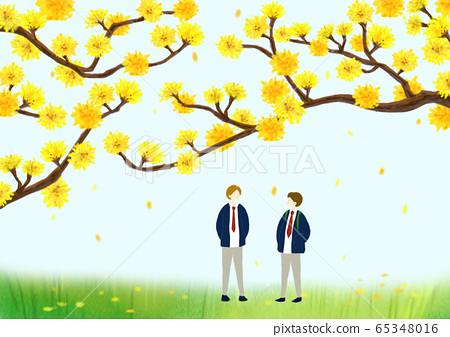 Beautiful spring day with colorful flowers illustration 013 65348016