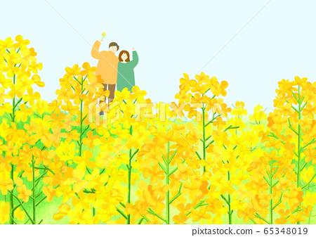 Beautiful spring day with colorful flowers illustration 012 65348019