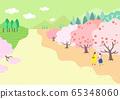 Beautiful spring natural scenery illustration 007 65348060