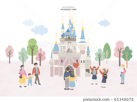 Travel and tourism concept, Famous Korean Landmarks illustration 006 65348078