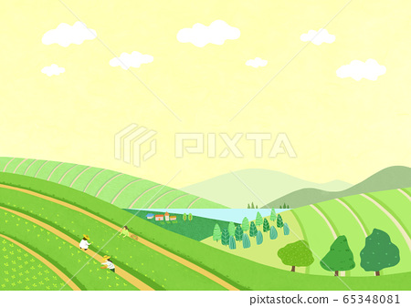 Beautiful spring natural scenery illustration 004 65348081