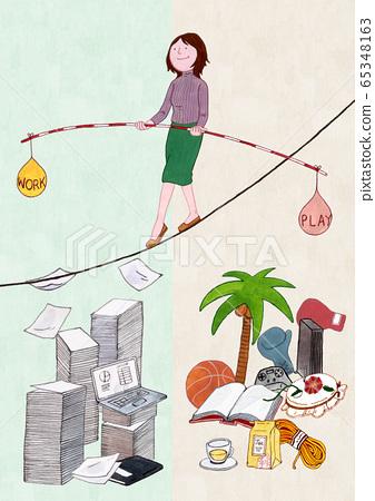 Work and life balance concept cartoon illustration 001 65348163