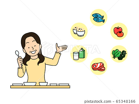 Healthy lifestyle concept, daily routine tips in flat design style illustration 015 65348166