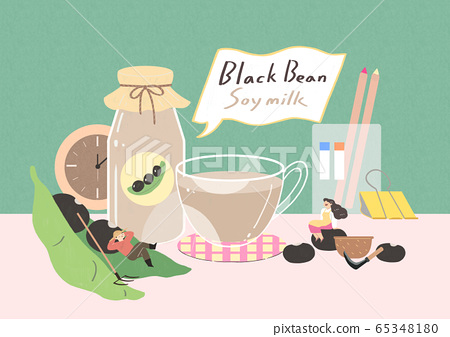 Healthy and quick breakfast illustration 011 65348180