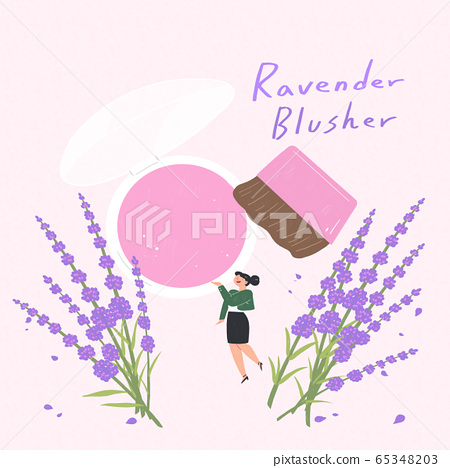 Beauty cosmetics advertisement with blooming flowers illustration 008 65348203
