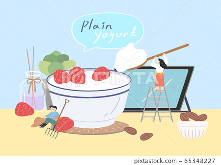 Healthy and quick breakfast illustration 010 65348227