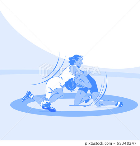 Dynamic sports, Various sports players illustration 076 65348247