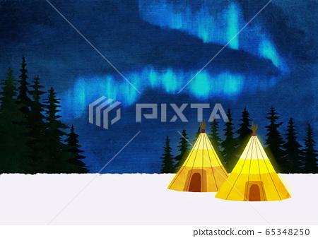 White winter forest landscape illustration 003 65348250