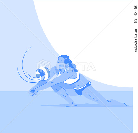 Dynamic sports, Various sports players illustration 053 65348260