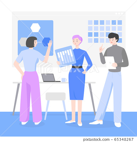 Business people, discussion, meeting, teamwork concept illustration 004 65348267