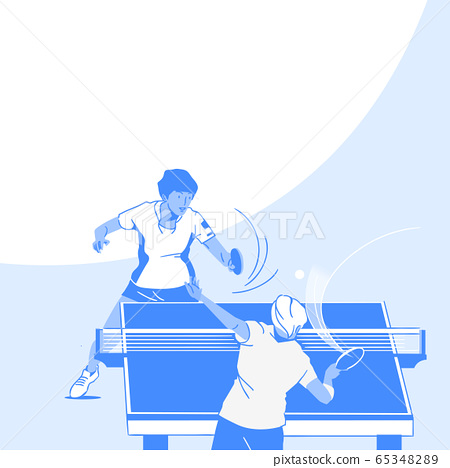 Dynamic sports, Various sports players illustration 038 65348289