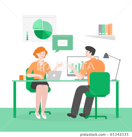 Business people, discussion, meeting, teamwork concept illustration 006 65348335
