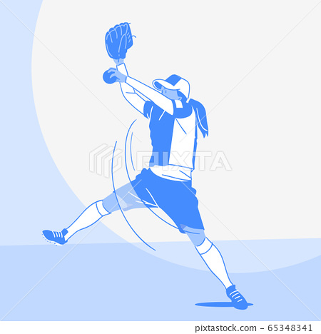 Dynamic sports, Various sports players illustration 001 65348341