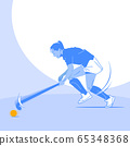 Dynamic sports, Various sports players illustration 015 65348368