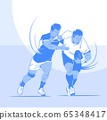 Dynamic sports, Various sports players illustration 025 65348417