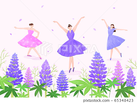 Beautiful flowers background. Lovely floral design element illustration 022 65348423