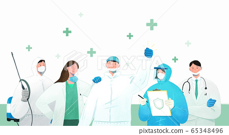 Anti-virus, health care and medical concept illustration 003 65348496