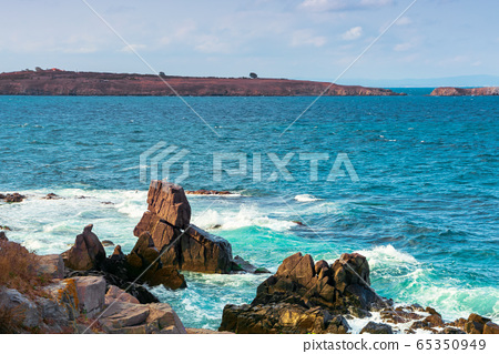 seascape with rocks and cliffs. beautiful scenery 65350949