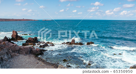 seascape with rocks and cliffs. beautiful scenery 65350950