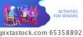 Activities for seniors concept banner header 65358892