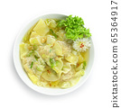 Dumpling Soup sprinkle with spring onion and 65364917