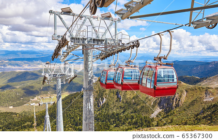 The Shika Snow Mountain cable car, China. 65367300