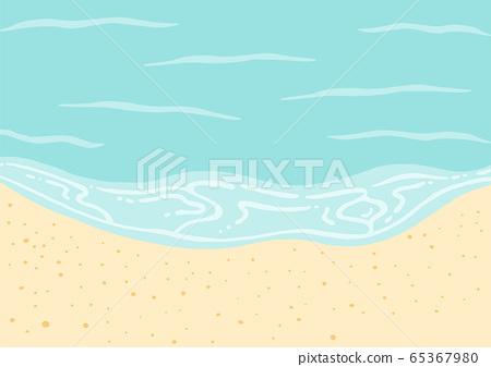 海灘海和沙灘 65367980