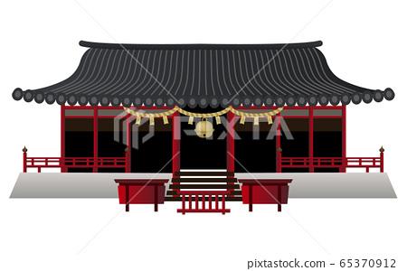 宮城大廈1鹽og神社矢量圖圖標 65370912