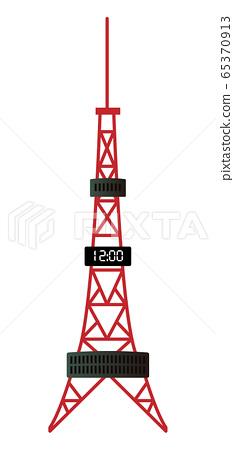 Hokkaido Building 2 Sapporo TV Tower Vector Illustration Icon 65370913