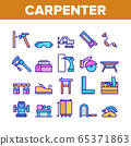 Carpenter Equipment Collection Icons Set Vector 65371863