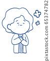 Senior woman's facial expression 65374782