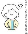 Facial expression of senior woman 65374812