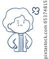 Facial expression of senior woman 65374815