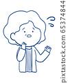 Facial expression of senior women 65374844