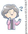 Facial expression of a senior woman 65374847