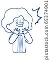 Facial expression of senior women 65374901